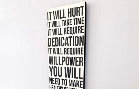 Wood Wall Sign - It Will Hurt (White)