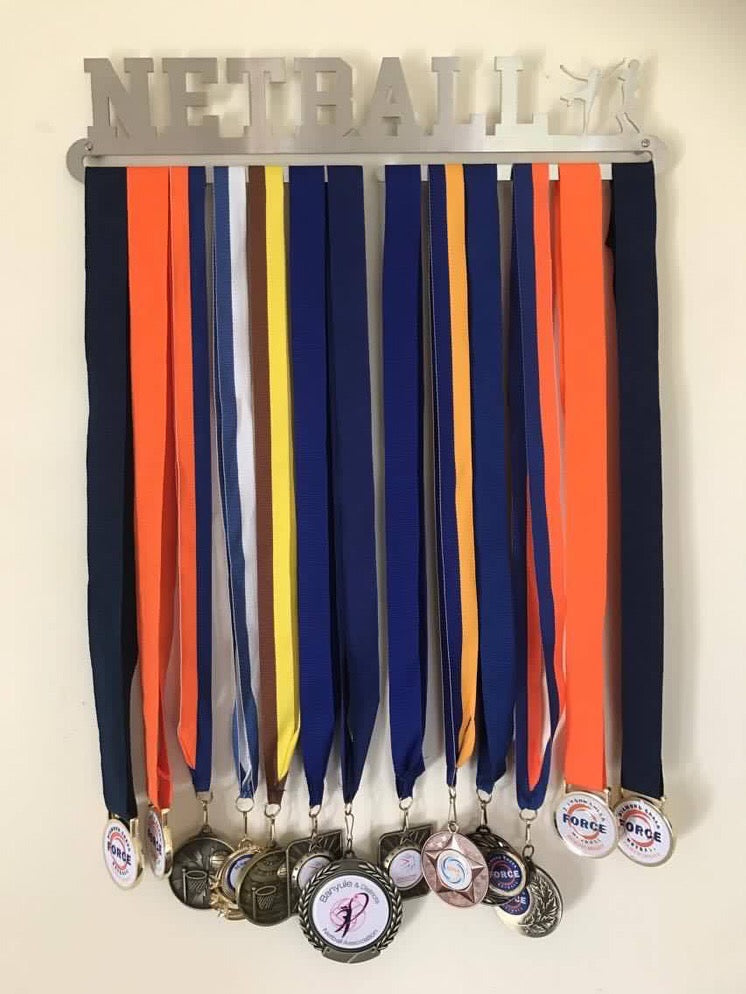 Netball  Medal Display Hanger