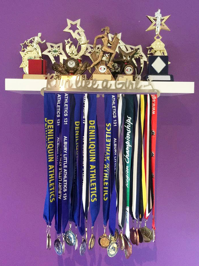 Run Like a Girl Medal Display Hanger