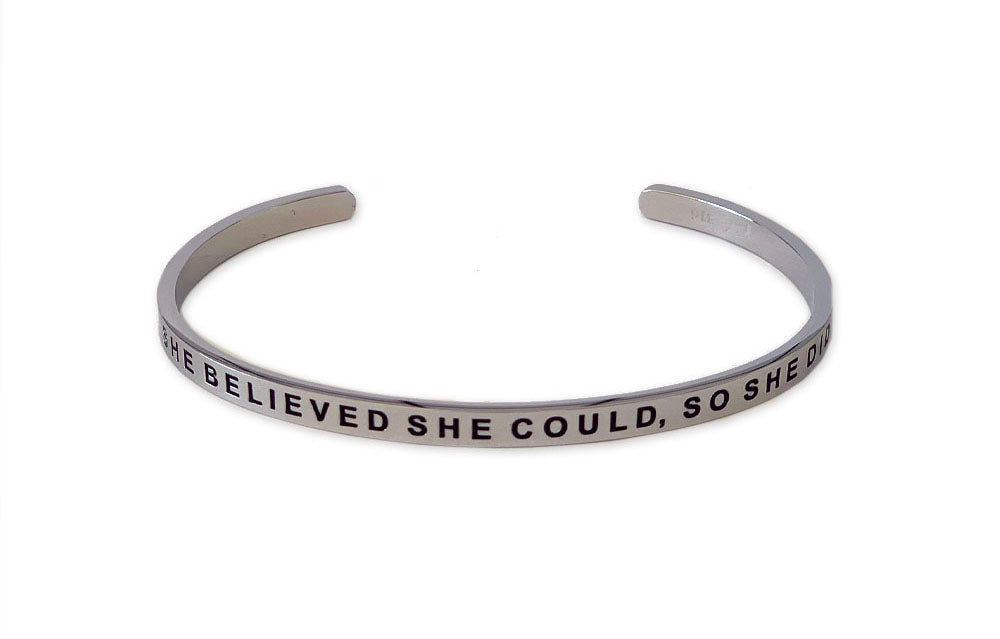 She Believed She Could So She Did Bracelet - Rose Gold / Stainless Steel