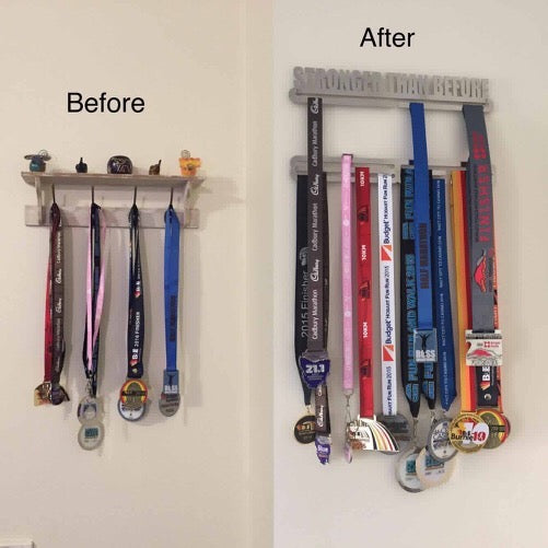 Stronger Than Before Medal Display Hanger