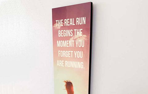 Wood Wall Sign - The Real Run