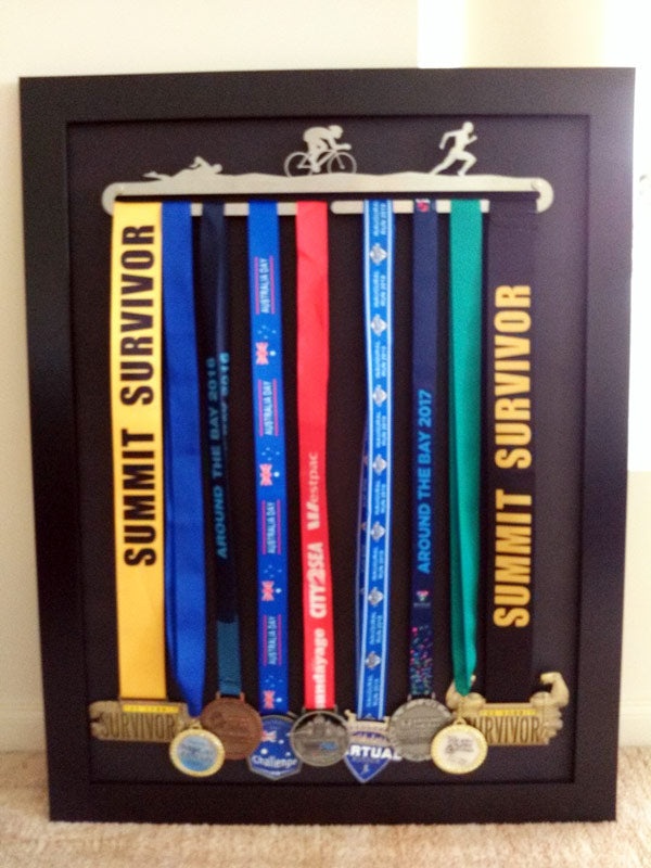 Triathlon Medal Display Hanger