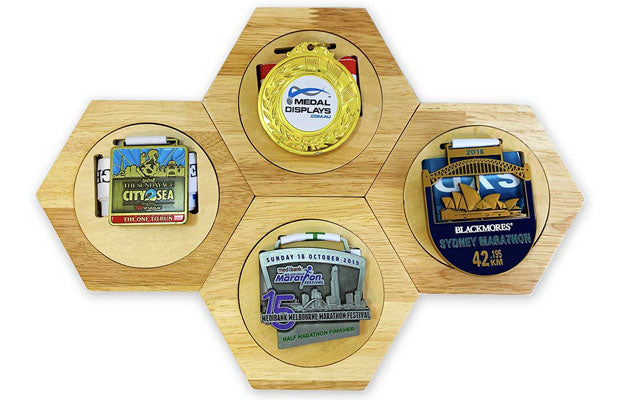 Wooden Hex Medal Display™