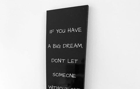 Wood Wall Sign - Big Dream