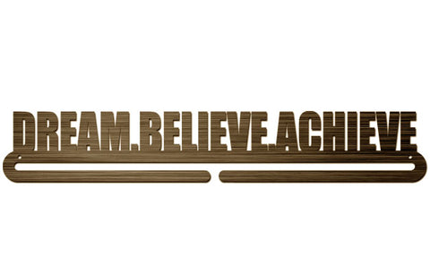 Bronze Plated Medal Display Hanger - Dream. Believe. Achieve.