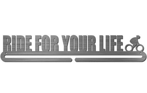 Medal Display Hanger - Ride For Your Life (Cycling)
