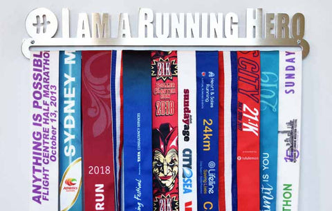 Medal Display Hanger - I am a Running Hero (Limited Edition)