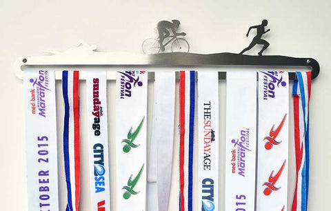 Medal Display Hanger - Triathlon (Swim Cycle Run)™
