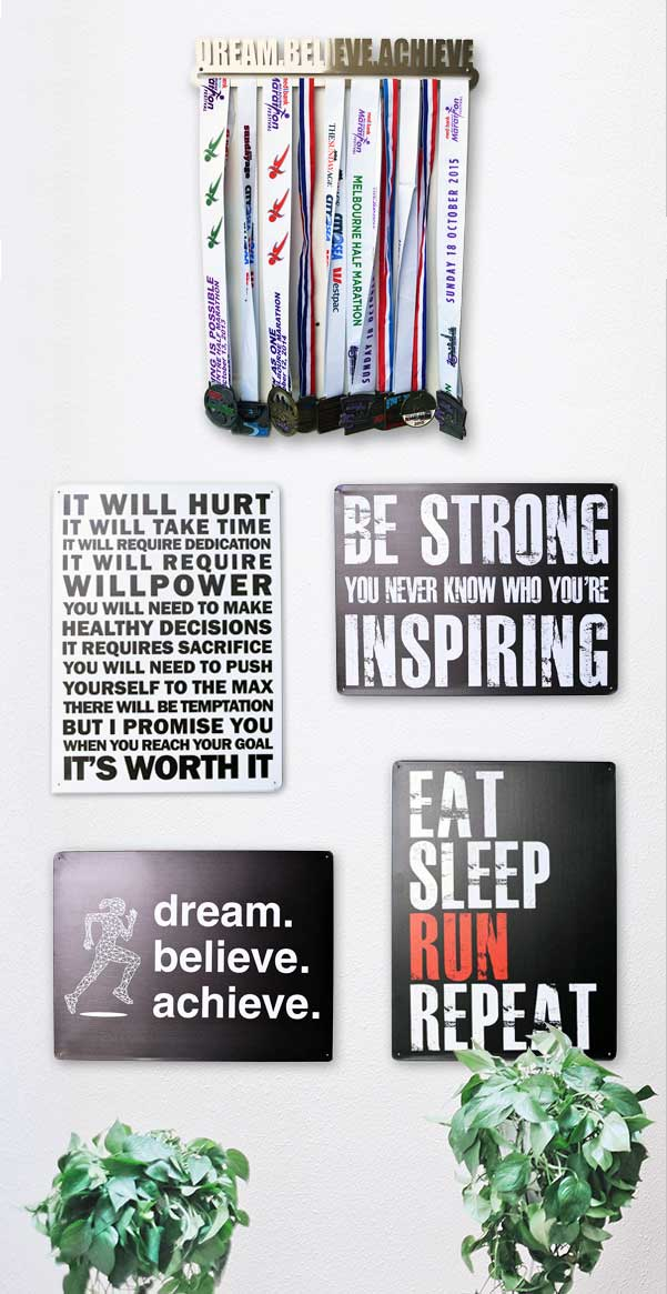 Metal Wall Sign - Eat Sleep Run Repeat™