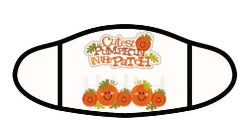 Pumpkin Patch Face Mask