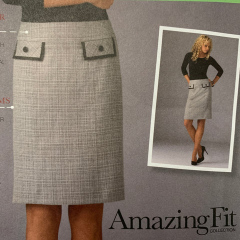 Modern 2012 slim average curvy 'Ámazing Fit' skirt factory folded sz 6-14 *2475