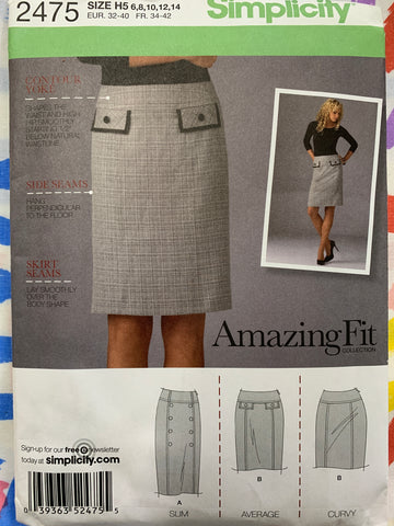 SKIRT: Modern 2012 slim average curvy 'Ámazing Fit' skirt factory folded *2475