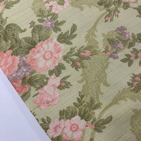 1/2m LEFT: Modern Moondance barkcloth Robyn Pandolph for Moda floral FQ+