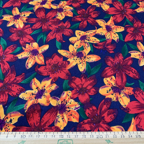 1.5m LEFT: Vintage 1990s Rose & Hubble London Collection soft cotton FQ+