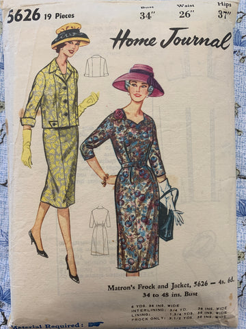 "FROCK & JACKET: Home Journal 1950s bust 34"" *5626"