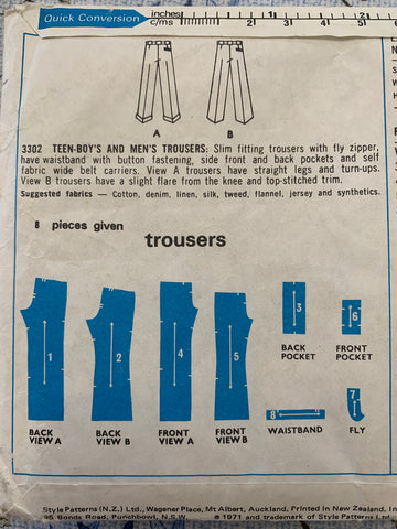 "PANTS: Style 1971 teen's and men's pants size 40"" *3302"