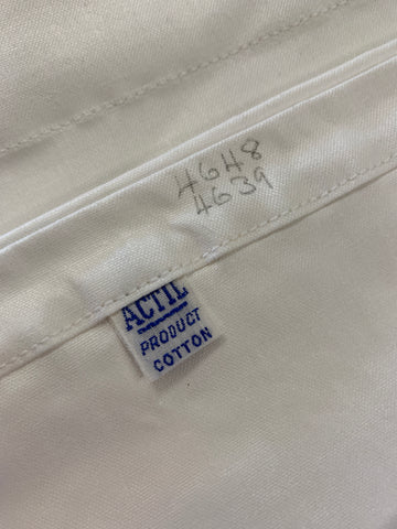 LESS THAN 2m LEFT: Actil MCM mid-century super thick white cotton sheeting