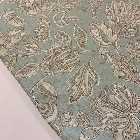 6.5m LEFT: Modern decorator cotton drapery upholstery Amore by Porter and Stone FQ+