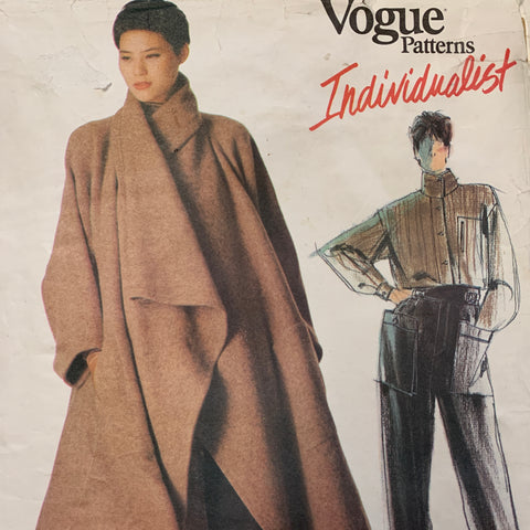 Vogue Issey Miyake 1980s misses' coat shirt and pants size 12 uncut *1476