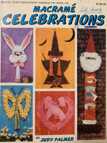 For those who love to celebrate! 'Macrame Celebrations' 16 projects 1970s