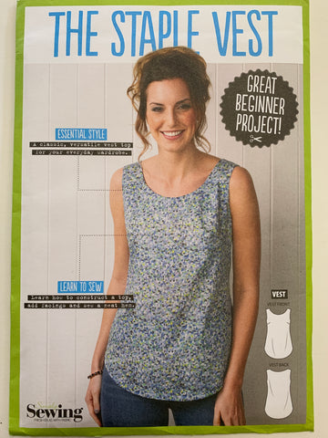 THE STAPLE VEST: Simply Sewing basics pattern unopened sizes 8-20