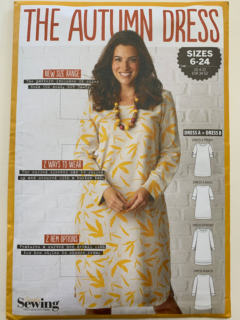 THE AUTUMN DRESS: Simply Sewing basics pattern unopened sizes 6-24