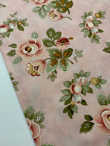 1m LEFT: Quilt cotton Vintage Rose Donna Wilder Fabric Traditions 2008