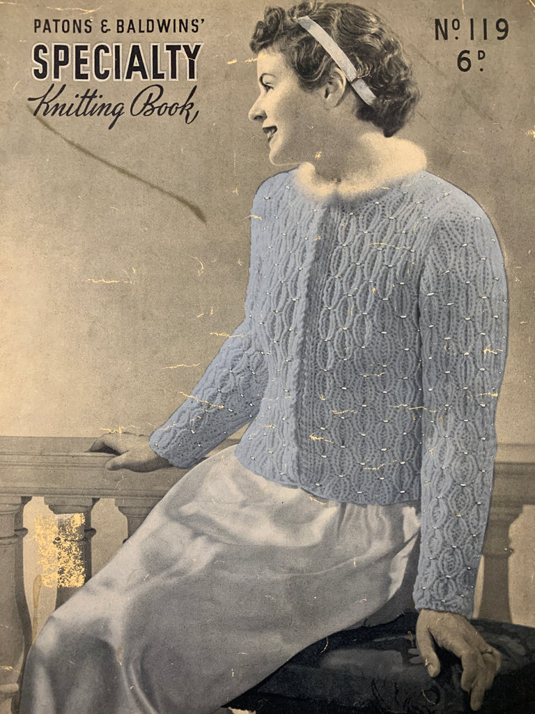 30s 40s Patons & Baldwins No 119 Specialty Knitting Book ladies dressing jackets cape