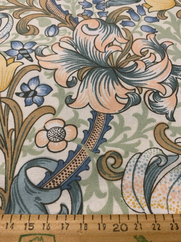 2m LEFT: Golden Lily Minor William Morris Sanderson drapery 1990s