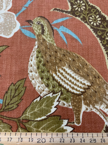 ONE ONLY: Vintage Bloomcraft? 1980s cotton sampler w/ pheasants 64cm x 62cm