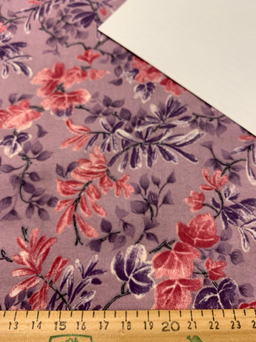 2m LEFT: Modern quilt cotton 2002 with purple base and allover floral