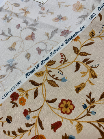 Less than 1m LEFT: Vintage 1981 House n' Home large sampler decorator cotton