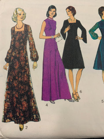 MISSES' DRESS IN TWO LENGTHS: Style 1975 size 16 factory folded *4900