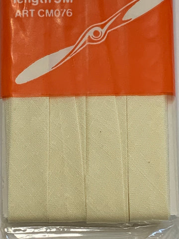 TWO PACKETS LEFT: Coats Propeller Bias Binding cotton cream 5m