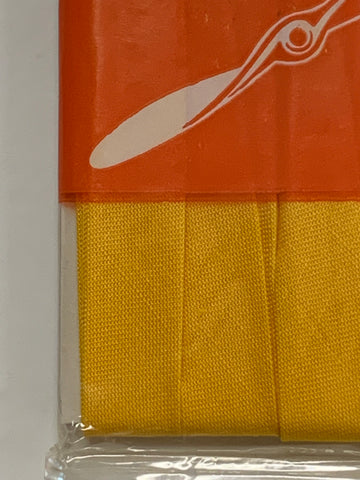 TWO PACKETS LEFT: Coats Propeller Bias Binding cotton sunshine yellow 5m