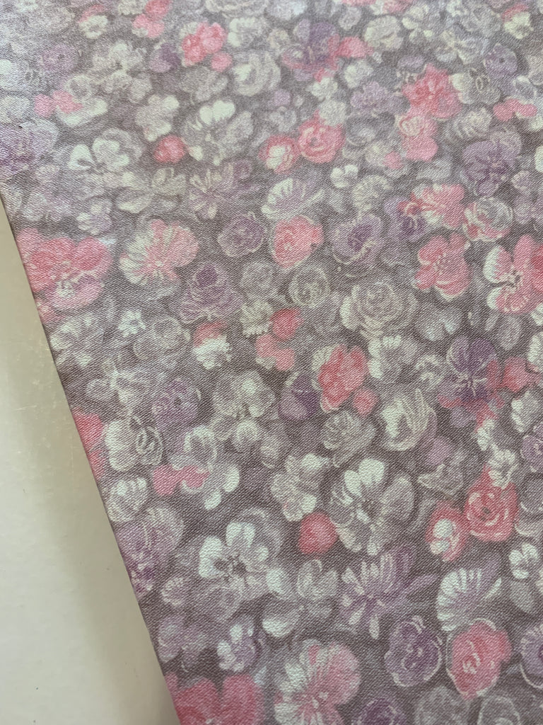 2m LEFT: Light weight cotton crepe 1960s muted floral