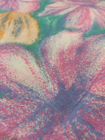 1m LEFT: Light weight cotton 1980s with flowers in pastels