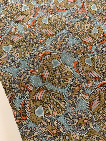 3m LEFT: I love this piece! Vintage 80s? cotton voile with birds everywhere...and spots, too