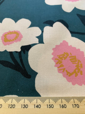 1/2m LEFT: Nerida Hansen Jigger Jagger japanese flowers on mid-weight cotton
