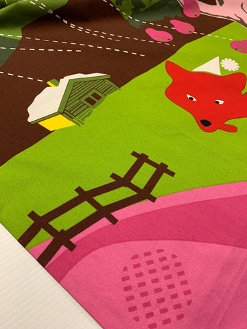 ONE ONLY: Scandi 'Ravar' foxes squirrels Lotta Kuhlhom Ikea 2008 pattern repeat