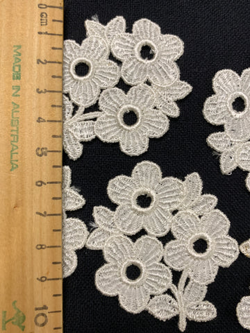 ONE PACK ONLY: Assortment of 1960s Swiss cotton flowers for applique
