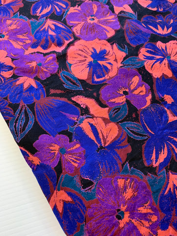 2m LEFT: Kapow! Uber bright 1980s synthetic blend dress blouse fabric