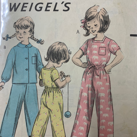 "PYJAMAS: Weigel's child's pyjamas breast 26"" size 8? *1290"
