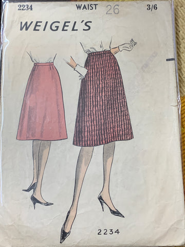 "SKIRT: Weigel's 1950s skirt size 26"" size 8 *2234"