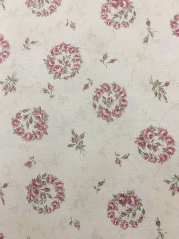 LAST PIECE: Modern quilting cotton Classic Flower Lecien FQ+