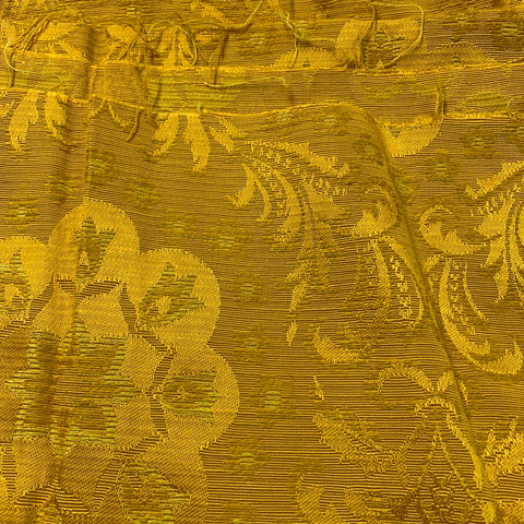 4m LEFT: Luxe! Early 1970s woven rayon drapery in yellow gold FQ+