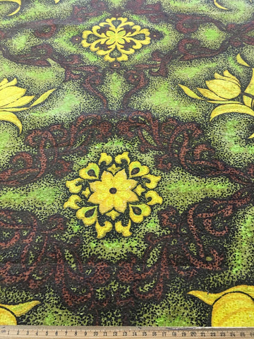 Beautiful Autumnal colours 60s cotton barkcloth HM+