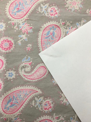 ONE LEFT: Modern Laura Ashley Home cotton pillow case with pretty paisley 70cm x 44cm