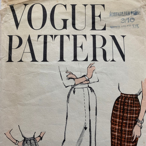 Vogue 1967 FF very easy to make slimline skirt *1619